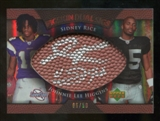 2007 Upper Deck Sweet Spot Pigskin Signatures Dual #RH Sidney Rice/Johnnie Lee Higgins /50