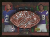 2007 Upper Deck Sweet Spot Pigskin Signatures Dual #SR Steve Smith USC/Sidney Rice /50