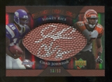 2007 Upper Deck Sweet Spot Pigskin Signatures Dual #RJ Sidney Rice Chad Johnson Autograph /50