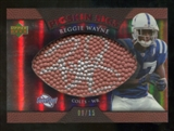 2007 Upper Deck Sweet Spot Pigskin Signatures Red #RW2 Reggie Wayne /15