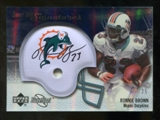 2007 Upper Deck Sweet Spot Signatures Silver 25 #BR2 Ronnie Brown Autograph /25