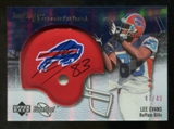 2007 Upper Deck Sweet Spot Signatures Silver #LE2 Lee Evans /49