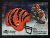 2007 Upper Deck Sweet Spot Signatures Silver 49 #TH2 T.J. Houshmandzadeh Autograph /49