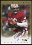 2000 Upper Deck Montana Master Collection Autographs #JMS2 Joe Montana 44/50