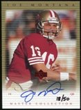2000 Upper Deck Montana Master Collection Autographs #JMS3 Joe Montana 18/50