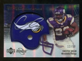 2007 Upper Deck Sweet Spot Signatures Silver #CT Chester Taylor /50