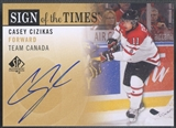 2012/13 SP Authentic #SOTCC Casey Cizikas Sign of the Times Team Canada Auto