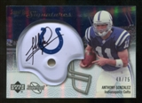 2007 Upper Deck Sweet Spot Signatures Silver #AG Anthony Gonzalez /75