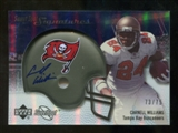 2007 Upper Deck Sweet Spot Signatures Silver #CW Cadillac Williams /75