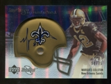2007 Upper Deck Sweet Spot Signatures Silver #MC Marques Colston /75