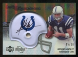 2007 Upper Deck Sweet Spot Signatures Gold 20 #AG Anthony Gonzalez Autograph /20