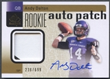 2011 SP Authentic #232 Andy Dalton Rookie Patch Auto #236/699