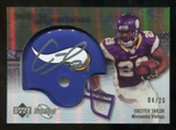 2007 Upper Deck Sweet Spot Signatures Gold #CT Chester Taylor /20