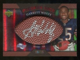2007 Upper Deck Sweet Spot Pigskin Signatures Red #GW2 Garrett Wolfe /15