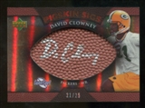 2007 Upper Deck Sweet Spot Pigskin Signatures Bronze 25 #DC David Clowney Autograph /25