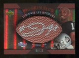 2007 Upper Deck Sweet Spot Pigskin Signatures Bronze 25 #JH Johnnie Lee Higgins Autograph /25