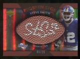 2007 Upper Deck Sweet Spot Pigskin Signatures Bronze 25 #SS2 Steve Smith USC Autograph /25