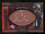 2007 Upper Deck Sweet Spot Pigskin Signatures Red #AO Amobi Okoye /15