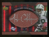 2007 Upper Deck Sweet Spot Pigskin Signatures Red 15 #JC Jerricho Cotchery Autograph /15