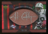 2007 Upper Deck Sweet Spot Pigskin Signatures Bronze #JC Jerricho Cotchery 15/25