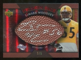 2007 Upper Deck Sweet Spot Pigskin Signatures Red 5 #LW LaMarr Woodley Autograph /5