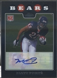 2008 Topps Chrome #TC191 Matt Forte Rookie Auto
