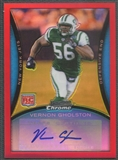 2008 Bowman Chrome #BC109 Vernon Gholston Red Refractor Rookie Auto #5/5