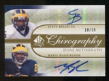 2010 Upper Deck SP Authentic Chirography Duals #MB Steve Breaston/Mario Manningham Autograph /15