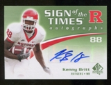 2010 Upper Deck SP Authentic Sign of the Times #KB Kenny Britt Autograph