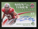 2010 Upper Deck SP Authentic Sign of the Times #JL James Laurinaitis Autograph
