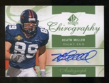 2010 Upper Deck SP Authentic Chirography #HM Heath Miller Autograph