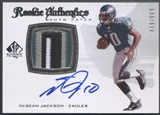 2008 SP Authentic #290 DeSean Jackson Rookie Patch Auto #439/999