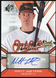 2009 Upper Deck SPx #124 Matt Wieters RC Autograph