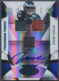 2009 Certified #230 Jeremy Maclin Mirror Blue Jersey Shoe Ball Auto #19/25