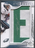 "2009 SP Authentic #BLSDE DeSean Jackson Patch By the Letter ""E"" Auto #04/11"