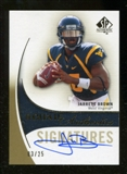2010 Upper Deck SP Authentic Gold #165 Jarrett Brown RC Autograph 3/25