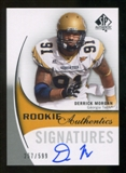2010 Upper Deck SP Authentic #141 Derrick Morgan Autograph /599