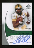 2010 Upper Deck SP Authentic #157 Joe Webb Autograph /599