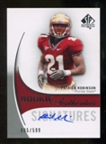 2010 Upper Deck SP Authentic #179 Patrick Robinson Autograph /599