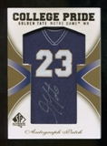 2010 Upper Deck SP Authentic College Pride Patch Autographs #GT Golden Tate Autograph