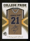 2010 Upper Deck SP Authentic College Pride Patch Autographs #JD Jonathan Dwyer Autograph