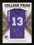 2010 Upper Deck SP Authentic College Pride Patch Autographs #MK Mike Kafka Autograph