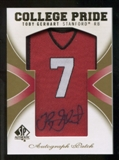 2010 Upper Deck SP Authentic College Pride Patch Autographs #TG Toby Gerhart Autograph