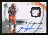 2010 Upper Deck SP Authentic #117 Mike Williams RC Patch Autograph 399/499