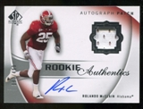 2010 Upper Deck SP Authentic #120 Rolando McClain RC Patch Autograph 397/499