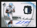 2010 Upper Deck SP Authentic #134 Andre Roberts Jersey Autograph /499