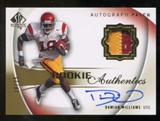 2010 Upper Deck SP Authentic Gold #113 Damian Williams RC Patch Autograph 10/25