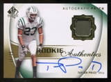 2010 Upper Deck SP Authentic Gold #116 Taylor Price RC Patch Autograph /25