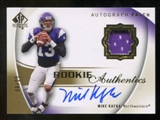 2010 Upper Deck SP Authentic Gold #118 Mike Kafka RC Patch Autograph /25