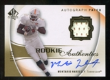 2010 Upper Deck SP Authentic Gold #131 Montario Hardesty RC Patch Autograph /25
